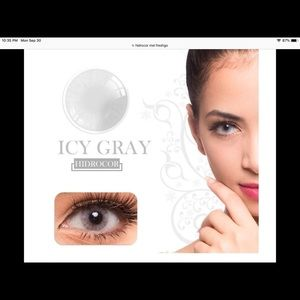 Freshgo Accessories - Hidrocor color lenses-12 month use-color Icy Gray